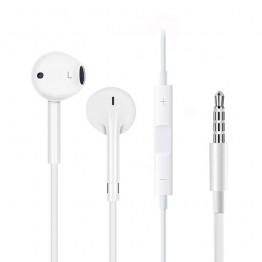 JS для Apple проводные наушники белый плоская голова ушной крючок регулятор громкости спортивные наушники Музыка Путешествия наушники для мобильного телефона купить на AliExpress