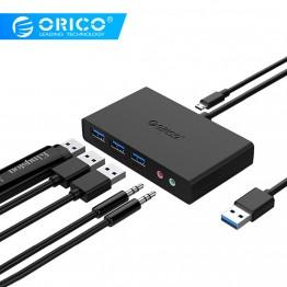 1306.97 руб. |ORICO High speed 3 порта USB 3,0 концентратор с наушниками и микрофонными портами для Apple Macbook Air Ноутбук PC планшет USB 3,0 черный-in USB-хабы from Компьютер и офис on Aliexpress.com | Alibaba Group