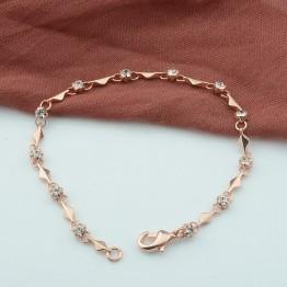 261.66 руб. 20% СКИДКА|Тонкий женский браслет с кристаллами из розового золота 19 см-in Цепочки и браслеты from Украшения и аксессуары on Aliexpress.com | Alibaba Group