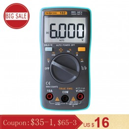 1046.63 руб. 49% СКИДКА|Рихметров RM102 Цифровой мультиметр 6000 отсчетов DC/вольтметр Амперметр AC Ом Сопротивление диод емкость измеритель температуры-in Мультиметры from Орудия on Aliexpress.com | Alibaba Group