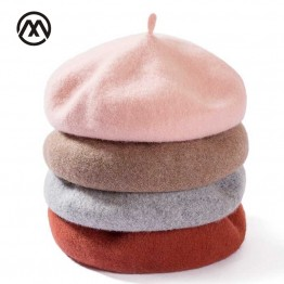 US $3.18 5% OFF|Lady spring Winter Berets Hat Painter style hat Women Wool Vintage Berets Solid Color Caps Female Bonnet Warm Walking Cap-in Women's Berets from Apparel Accessories on Aliexpress.com | Alibaba Group