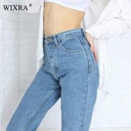 1096.99 руб. 45% СКИДКА|WIXRA базовые джинсы классические 4 Сезона Женские джинсы с высокой талией винтажные джинсы карандаш для мам высококачественные ковбойские джинсовые брюки-in Джинсы from Женская одежда on Aliexpress.com | Alibaba Group