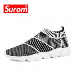 1261.61 руб. 52% СКИДКА|SUROM/брендовые летние мужские носки; кроссовки из дышащей сетки; мужская повседневная обувь; слипоны; носки; лоферы; очень легкие носки для мальчиков; кроссовки-in Мужская повседневная обувь from Туфли on Aliexpress.com | Alibaba Group