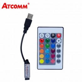 115.79 руб. 31% СКИДКА|24 ключа USB светодио дный RGB LED контроллер В 5 24 В ИК пульт RGB светодио дный LED диммер USB интерфейс 4 Pin применяется к 3528 5050 2835 RGB полосы света-in Панели управления RGB from Лампы и освещение on Aliexpress.com | Alibaba Group