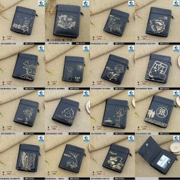 US $4.74 5% OFF Black Anime Black Butler/Gintama/Hatsune Miku/Hitman Reborn/Naruto/Tokyo Ghoul/One Piece/Totoro etc Short Wallet/Zipper Purse-in Wallets from Luggage & Bags on Aliexpress.com   Alibaba Group