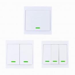 326.42 руб. |86 настенная панель беспроводной дистанционный передатчик 1 2 3 канала Sticky RF TX Smart для дома гостиной спальни 315/433 МГц-in Выключатели from Товары для дома on Aliexpress.com | Alibaba Group