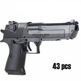DIY строительные блоки кирпичи мальчик игрушечный Пистолет Desert Eagle сборка уличная забавная игрушка для детей может стрелять пули с Legoingly подарки купить на AliExpress