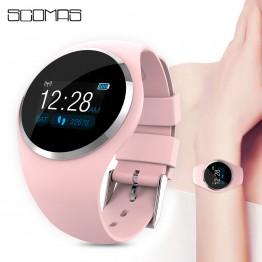 € 21.19 51% de DESCUENTO|SCOMAS 2019 actualización reloj inteligente a la moda Monitor de presión arterial para mujer recordatorio fisiológico Smartwatch para Android IOS-in Relojes inteligentes from Productos electrónicos on Aliexpress.com | Alibaba Group