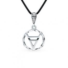 """Серебряная подвеска-оберег """"символ велеса"""" SUNLIGHT проба 925"""