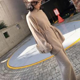2746.73 руб. 40% СКИДКА|2019 женский свитер, шерстяной кашемировый широкий брючный костюм, женский комплект 2 шт., водолазка, топ, бандаж, женский костюм, комплект из двух предметов-in Женские наборы from Женская одежда on Aliexpress.com | Alibaba Group