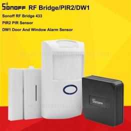 474.34 руб. 30% СКИДКА Sonoff РФ мост 433 МГц Wi Fi Беспроводной преобразователь сигнала ПИР 2 Сенсор/DW1 двери и окна аварийных Сенсор для умного дома безопасности Наборы купить на AliExpress