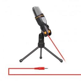 650.22 руб. 12% СКИДКА 3,5 мм разъем аудио конденсаторный микрофон для студийной звукозаписи проводной микрофон с подставкой для радио braodcasing пение-in Микрофоны from Бытовая электроника on Aliexpress.com   Alibaba Group