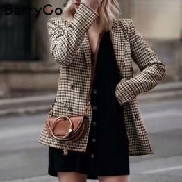 1403.79 руб. 44% СКИДКА|BerryGo мода двубортный плед Блейзер длинный рукав деловой костюм для стройных дамы пиджак 2018 Повседневное осенняя куртка для женщин пиджаки-in Пиджаки from Женская одежда on Aliexpress.com | Alibaba Group