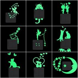 41.42 руб. 25% СКИДКА|Мультяшные светящиеся Стикеры для выключателей светится в темноте стикер на стену s домашнее украшение для детской комнаты декоративная наклейка на стену кошка фея Луна Звезда-in Настенные наклейки from Дом и сад on Aliexpress.com | Alibaba Group