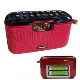 Очень тяжелый бас звук портативный наружный сабвуфер Bluetooth 4,2 динамик FM TF USB AUX проигрыватель звукозапись с двумя батареями 18650
