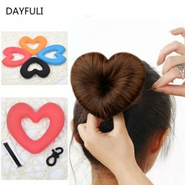 US $0.58 14% OFF|TOPHOT 1PC Hair Donut Bun Heart MakerHot Magic Foam Sponge Headwear disk Hair Device Bun Updo Headbands  Acces Hair Tool-in Braiders from Beauty & Health on Aliexpress.com | Alibaba Group