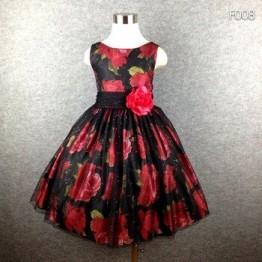 Фирменное нарядное платье для девочек; черная юбка-пачка с цветочным принтом и большим бантом; летнее платье для девочек от 4 до 16 лет; горяча...