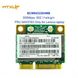 690.31 руб.  BCM943228HMB BCM943228 bcm43228 для Broadcom двухдиапазонный WiFi, Bluetooth, Беспроводной 4,0 мини карта pci e FRU 04W3763 для lenovo-in Сетевые карты from Компьютер и офис on Aliexpress.com   Alibaba Group
