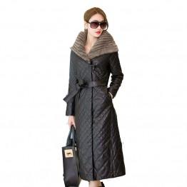 6668.29 руб. 49% СКИДКА|Большие размеры 5XL 2019, новая модная зимняя теплая куртка из искусственной кожи, женская кожаная куртка пуховик, черная верхняя одежда, зимние пуховики-in Пуховые пальто from Женская одежда on Aliexpress.com | Alibaba Group
