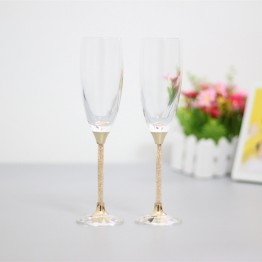US $24.75 34% OFF|fashion toasting wedding glasses crystal champagne flutes for bride and groom drinking wine glass for lovers gifts-in Other Glass from Home & Garden on Aliexpress.com | Alibaba Group
