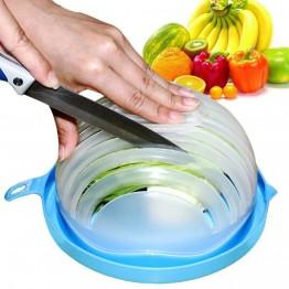 474.34 руб. 30% СКИДКА|Творческий Фрукты Овощи салат решений набор 60 секунд чаша для салатов cut кухня большой пластик смешивания Слайсеры приспособление для салата купить на AliExpress