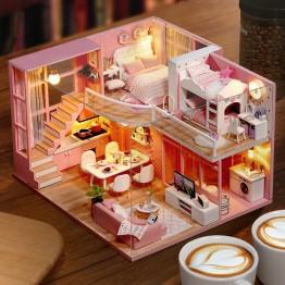 1193.9 руб. 47% СКИДКА DIY деревянный кукольный дом кукольных домиков миниатюрная кукольная мебель комплект игрушки для детей Рождественский подарок L026-in Кукольные дома from Игрушки и хобби on Aliexpress.com   Alibaba Group