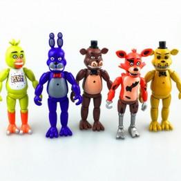 722.03 руб. 8% СКИДКА 5 см шт./компл. 15 см Five Nights At Freddy's ПВХ фигурку игрушки Foxy золото Фредди Чика Фредди со светодио дный ными огнями купить на AliExpress