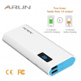 € 24.44 |ARUN banco de potencia 10000 mAh powerbank para Xiaomi mi iPhone X 8 cargador de batería externa portátil para celular Huawei P20 Pro Powerbank-in Cargador portátil from Teléfonos celulares y telecomunicaciones on Aliexpress.com | Alibaba Group