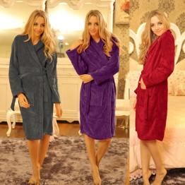 1052.55 руб. 27% СКИДКА|Зимние теплые халаты унисекс для женщин Человек badjas женский халат пижамы хлопок длинные халаты для дома Раздев-in Халаты from Нижнее белье и пижамы on Aliexpress.com | Alibaba Group
