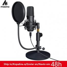 MAONO USB микрофон Набор Профессиональный Podcast потоковый микрофон конденсаторный Студийный микрофон для компьютера YouTube игровая запись