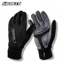 SPAKCT термальные лыжные перчатки Зима полный палец Снег ветрозащитный Открытый спортивные перчатки мужчины женщины сноуборд лыжные теплые перчатки купить на AliExpress