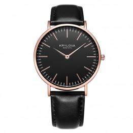 325.05 руб. 64% СКИДКА|KRYLOVA Лидирующий бренд модные женские часы роскошные кожаные женские кварцевые часы для женщин тонкий повседневное ремешок Reloj Mujer купить на AliExpress