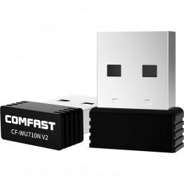193.29 руб. 41% СКИДКА|Comfast CF WU710V2 мини USB Wi Fi адаптер 2,4 г Wifi ключ 150 Мбит/с 802.11b/G/n Wifi излучатель Wi Fi приемник сетевая антенна-in Сетевые карты from Компьютер и офис on Aliexpress.com | Alibaba Group