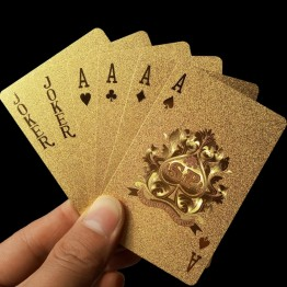 US $1.99 50% OFF|Golden Playing Cards Deck gold foil poker set Magic card 24K Gold Plastic foil poker Durable Waterproof Cards magic 81150-in Magic Tricks from Toys & Hobbies on Aliexpress.com | Alibaba Group
