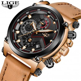 US $20.99 93% OFF|Reloje 2019 LIGE Men Watch Male Leather Automatic date Quartz Watches Mens Luxury Brand Waterproof Sport Clock Relogio Masculino-in Quartz Watches from Watches on Aliexpress.com | Alibaba Group