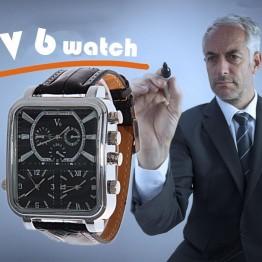 616.85 руб. 9% СКИДКА|2018 новые часы Мода и Повседневное V6 большой прямоугольник циферблат кварц черный кожаный аналоговые кварцевые часы для Для мужчин Спорт военные часы купить на AliExpress