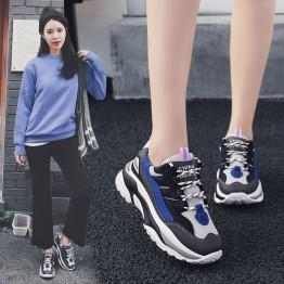 2018 Новый Обувь с дышащей сеткой Для женщин спортивная обувь вулканизируют женский Бег кроссовки на шнуровке мягкая обувь для отдыха обувь прогулочная Дамская обувь купить на AliExpress