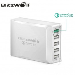 BlitzWolf BW S7 Quick Charge QC3.0 Adapter USB Charger Smart 5 Port Desktop Charger Mobile Phone Travel Charger For Smartphone-in Mobile Phone Chargers from Cellphones & Telecommunications on Aliexpress.com | Alibaba Group