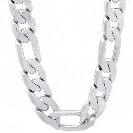 313.34 руб.  925 стерлингового серебра 10 мм Мужские Фигаро цепи ожерелье для мужчин 18