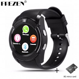 US $18.56 |FREZEN V8 Smart Watch 1.22'' Round Screen Support SIM / TF Card Camera SmartWatch for Xiaomi Huawei Android Smartphone PK DZ09-in Smart Watches from Consumer Electronics on Aliexpress.com | Alibaba Group