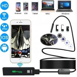 1476.63 руб. 20% СКИДКА|Letike USB эндоскопа Камера HD 1200 P IP68 полужесткие трубка эндоскопа Беспроводной Wi Fi бороскоп Видео инспекции для Android/iOS купить на AliExpress