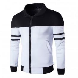 US $8.7 27% OFF 2018 winter Autumn Jacket Casual Zipper Sportswear Patchwork Jacket Long Sleeve Coat Slim Bomber Jacket Men Overcoat-in Jackets from Men's Clothing on Aliexpress.com   Alibaba Group