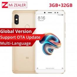 US $168.99  النسخة العالمية Xiaomi Redmi ملاحظة 5 3 جيجابايت RAM 32 جيجابايت ROM الهاتف الذكي أنف العجل 636 الثماني النواة 5.99
