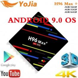 1748.11 руб. 35% СКИДКА|4 ГБ ОЗУ 64 Гб 4 K Смарт ТВ коробка Android 9,0 H96 MAX Plus RK3328 телеприставка 2,4G/5G wifi H96Max + android 8,1 медиаплеер-in ТВ-приставки from Бытовая электроника on Aliexpress.com | Alibaba Group