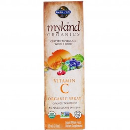 Garden of Life, MyKind Organics, Vitamin C Organic Spray, Orange-Tangerine, 2 fl oz (58 ml)