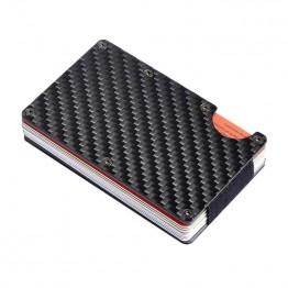 543.56 руб.  Кредитные держатель для карт углеродного волокна/алюминиевый сплав RFID сканирования кошелек из металла LBY2018 купить на AliExpress