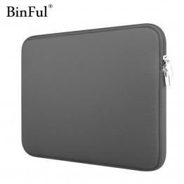 235.36 руб. 14% СКИДКА|BinFul чехол для ноутбука, неопрен, для женщин и мужчин, рукав, карман для компьютера 11