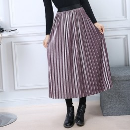 US $15.75 30% OFF|Women Metallic Pleated Skirts 2017 Bling Bling Glitter Gold Flared High Waist Tutu Party Ladies Spring Summer Midi Skirt-in Skirts from Women's Clothing on Aliexpress.com | Alibaba Group