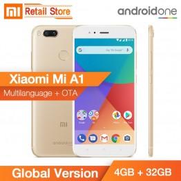 """9961.12 руб.  Глобальная версия Xiaomi Mi A1 4 ГБ 32 ГБ Snapdragon 625 Octa Core Dual 12,0 МП 5,5 """"смартфон металлический тела Android один CE FCC купить на AliExpress"""