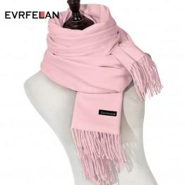643.99 руб. 40% СКИДКА|Evrfelan бренд зимний шарф для женщин шарфы для Высокое качество однотонный платок Модные женские теплое пальто бандана купить на AliExpress